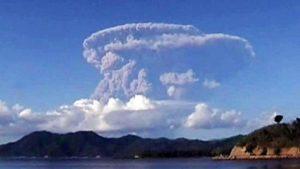 Gunung Sangeang Meletus