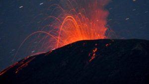 Lava Pijar Gunung Slamet